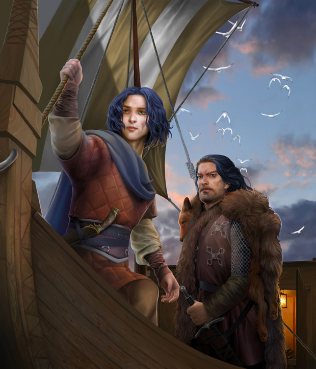 'Aegon'/Young Griff and Jon Connington/Griff by Steamey on Deviant Art