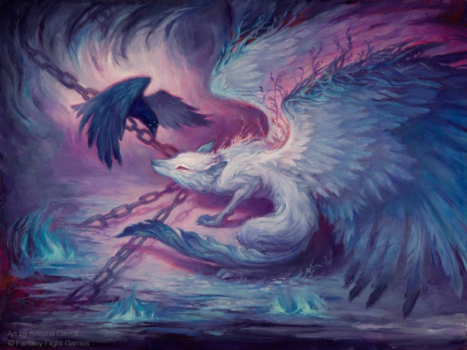 Kristina_Carroll_greendream_chained winged wolf