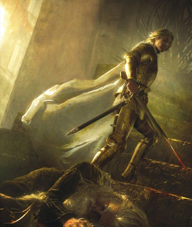 Jaime Lannister having killed Aerys 2