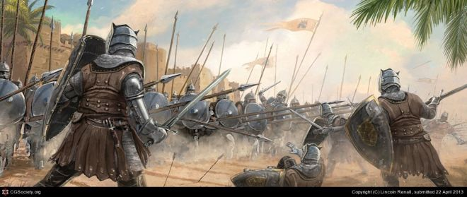 Unsullied Phalanx by Lincoln Renall